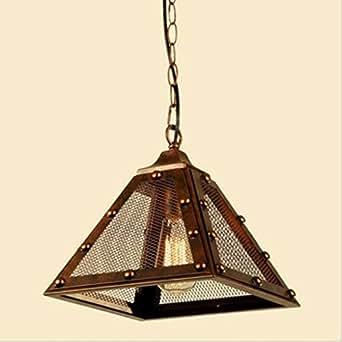 Huntvp Luz Lámpara de Techo Colgante Retro Industrial Iluminación Bombilla E27