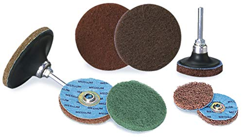 8000 RPM Aluminum Oxide Non-Woven Finishing Disc 77 Units 3 in Disc Dia