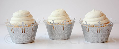 r - Glitter Cupcake Wrappers - Baptism - Christening - First Communion - Holy Communion - 12 ct ()