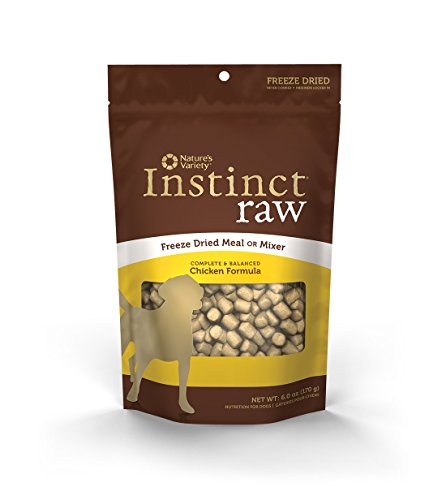 Nature's Variety Instinct Raw Grain-Free Chicken Formula Freeze Dried Dog Meal or Mixer, 6 oz. Bag