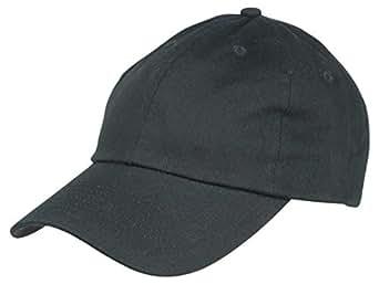 Dalix Unisex Unstructured Cotton Cap Adjustable Plain Hat, Black