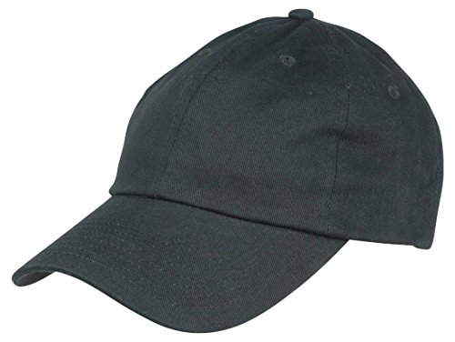 Dalix Unisex Unstructured Cotton Cap Adjustable Plain Hat, Black