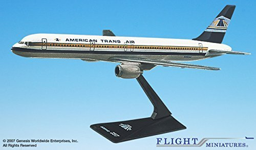 (Flight Miniatures ATA American Trans Air 1981 Boeing 757-200 1:200 Scale Display Model)