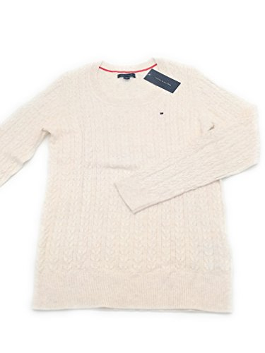 Tommy Hilfiger Damen Pullover, Women's Cable Knit Sweater, Medium