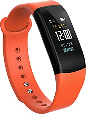 Smart Watch Fitness Activity Tracker,Bluetooth Silicone Band Smart Watch with Heart Rate Blood Pressure Monitor,Pedometer Calorie Sleep Tracker Bracelet Watch with Weather Forecast for IOS & Android