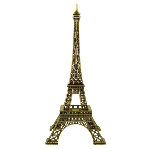 Souvenirs of France – Eiffel Tower Metal Statue – Height 38cm – 15in – Color Bronze