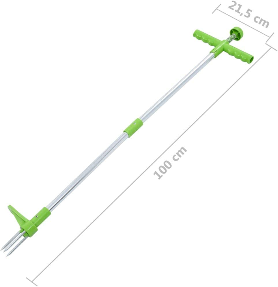 Diserbatrice Manuale in Alluminio 100 cm Festnight Estirpatore Twister