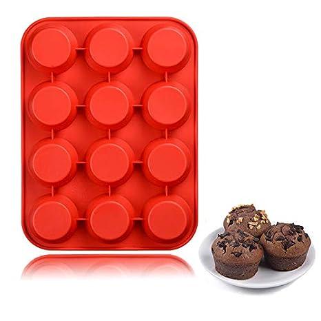 QELEG - Moldes redondos de silicona para galletas, jabón ...