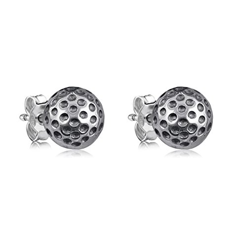 Dayna Designs Sterling Silver Golf Jewelry Collection - Earrings and Necklaces (Golf Ball Stud Earrings)