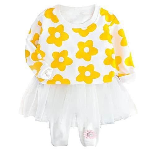 Baby Kids Sweatshirt Set Mitiy 2-Piece Clothes Long Sleeve Pullover Cartoon Print Tracksuit + Skirt Pants Outfit