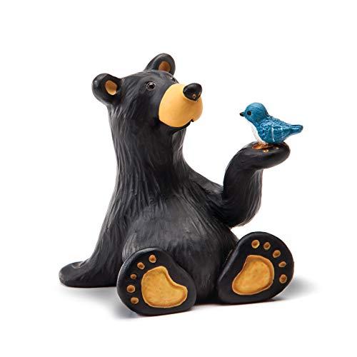 DEMDACO Minnie Bear with Bird Mini Midnight Black 3 x 2 Resin Stone Collectible Figurine -