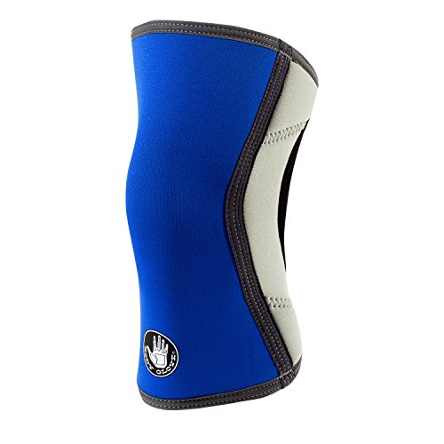 Body Glove 3mm Neoprene Knee Sleeve Support Breathable Anti-Slip Thermal Compression Protector Single Wrap Arthritis ACL Injury Meniscus Tear Joint Pain Relief for Sports, Unisex (Royal & Silver)