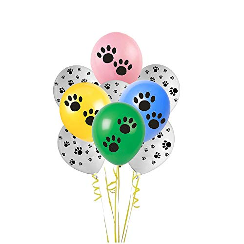 12 Inch Black Paw Prints Latex Balloons]()