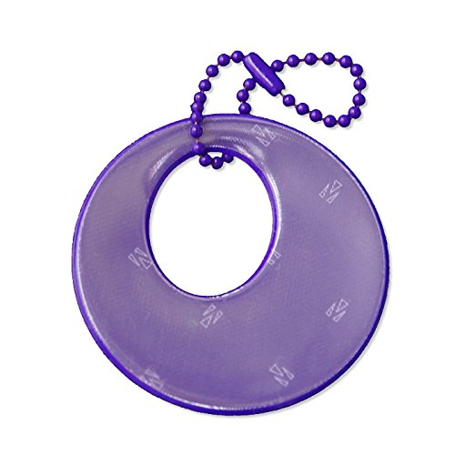funflector Safety Reflector - Circles - Purple ()