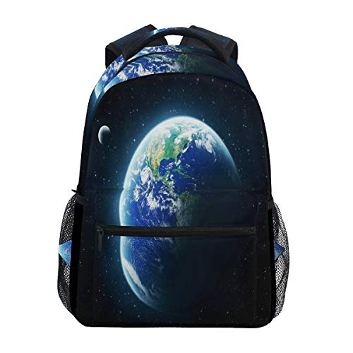 Women/Man Canvas Backpack Special Earth Zipper College School Bookbag Daypack Travel Rucksack Gym Bag For Youth (Best Itunes Gift Card Offers)