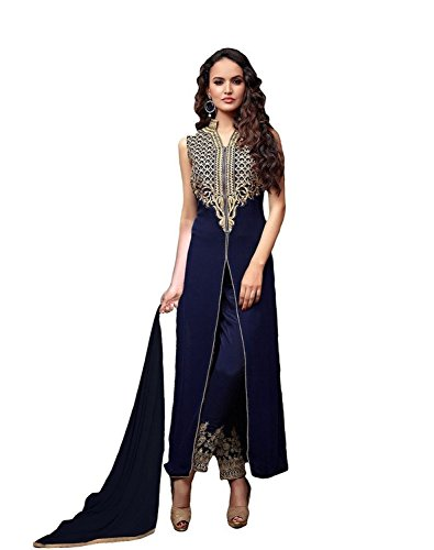 - RUHANI Women's Anarkali Salwar Kameez Designer Indian Dress Bollywood Ethnic Party One Size Blue