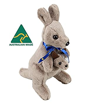 Amazon Com Australian Made Kangaroo With Joey Stuffed Animal 12