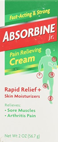 Absorbine Jr. Cream | Relieves Sore Muscles and Arthritis Pain | Moisturizes Skin with Shea and Cocoa Butter | Non-Greasy and Fast Absorbing | 2 oz.