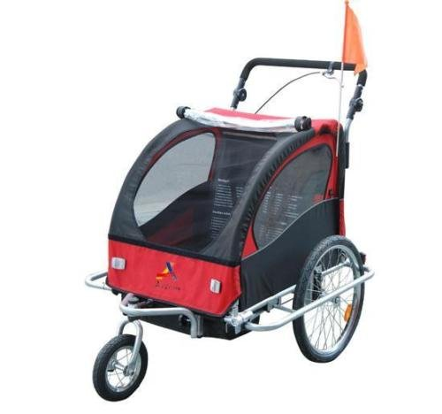 2In1 Double Baby Bicycle Bike Trailer And Stroller - 2
