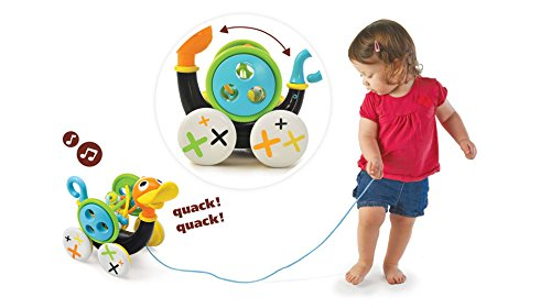Whistle Pull (Pull Toy - Pull Along Duck Whistles As Toddlers Pull It - With Bead Coaster - Ages 1-3 Years)