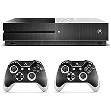 eSeeking Whole Body Vinyl Skin Sticker Decal Cover for Microsoft Xbox One Slim Console Metal Drawing Black