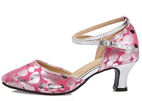 Dot Women's Dance Dancing Sole Party Outdoor Polka staychicfashion Shoes Social Shoes Rubber Pink Leather EPdywX