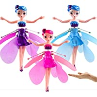 SPMA Flying Fairy Doll Girl Infrared Sensor Control Remote Control Child Toy Flying Princess Doll,Christmas gifts (3pcs)