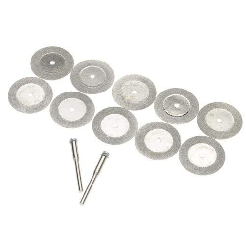 IMC Hot 10pcs 16mm Diamond Cut Off Disc Wheel Rotary Cutting Tools With Two Mandrel Arbors from Zozu