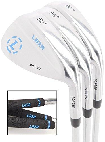 LAZR Premium Golf Wedge Set 52 56 60 Degree. 3 Forged Golf Club Wedges For Men. (Set of 3 (52 56 60) (Set of 3 (52 56 60))