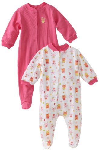 Gerber Baby-Girls Newborn 2 Pack Snap Front Sleep and Play