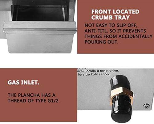 MEIGONGJU Barbecue Plancha antiadhésif Fer Noir Plaque de Cuisson Rapide Chauffage Barbecue Outil Certification CE Barbecue au gaz extérieur Grill