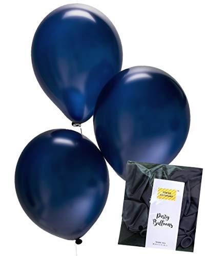 - Midnight Blue Black Navy Latex Balloons (0.11oz Tough 50pk) for Wedding, Bridal Baby Shower, Aladdin Birthday Party, Arch, Photobooth, Back Drop - by TOKYO SATURDAY (Black Navy)