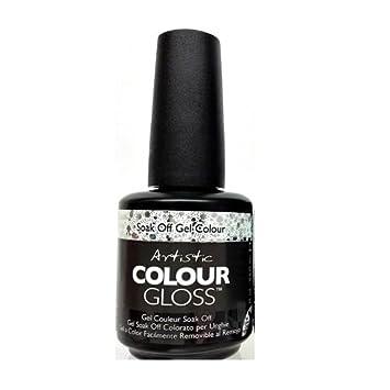 Amazon Artistic Nail Design Colour Gloss Silver Glitter Gel