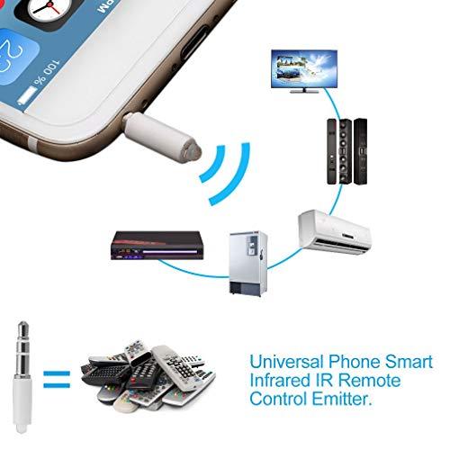 NiceWave Phone Smart Infrared IR Remote Control Emitter Universal TV STB DVD Control White