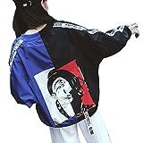 XWDA Unisex Couple Bomber Jacket Tops Long Sleeve Hip Hop Thin Coat