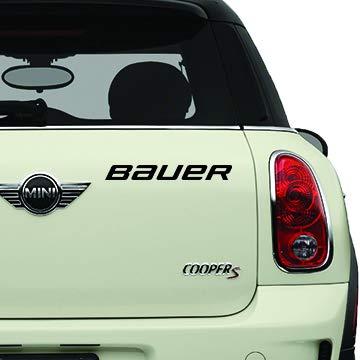 Bauer Black Sports Teams Automotive Decal/Bumper Sticker