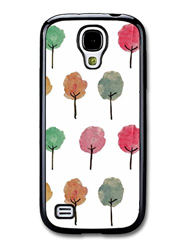 Hipster Cool illustration of Cute New Trees Pattern coque pour Samsung Galaxy S4 mini