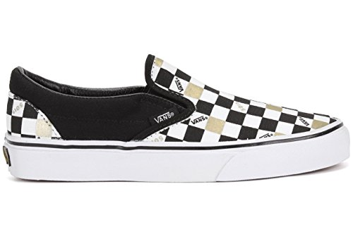 aa6afb39b9fd17 Vans Unisex Shoes Classic Slip on (50TH) Anniversary Black Checkers  Sneakers (4.5 MENS  6 WOMENS) - Buy Online in Oman.