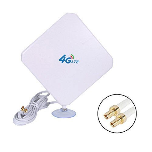 TopePop 4G LTE Antenne Dual Mimo 35dBi High Gain Network Ethernet Outdoor Antenne Signal Receiver Booster Amplifier for Wifi Router Mobile Broadband