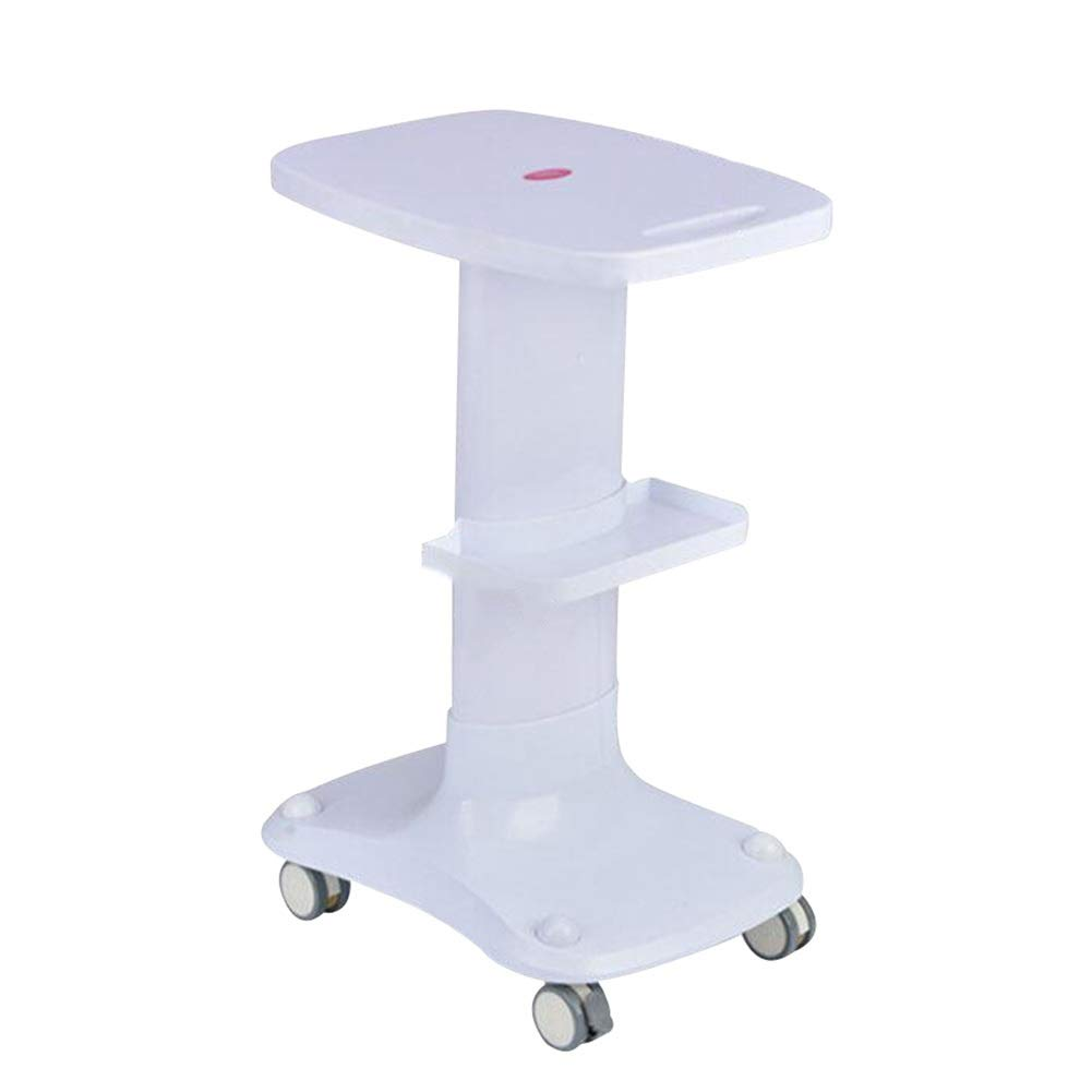 White Serving Trolley Cart Beauty Salon ABS Plastic Does Not Rust Universal Wheel with Shelf Not Deformed with Brake Assemble, 3 colors (color   orange)