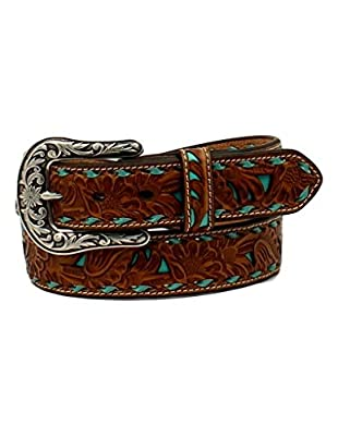 Nocona Belt Co. Women's Turquoise Inlay Buck Belt