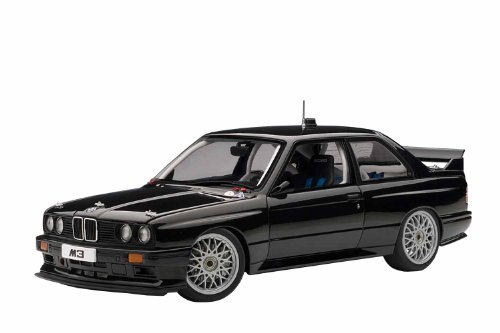 BMW M3 (E30) DTM Plain Body Version Black 1/18 Diecast Car Model by Autoart 89247