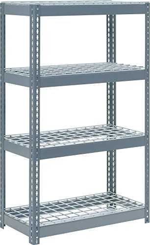 Rivet Lock Extra Heavy Duty Shelving Unit, Gray (Rivet Shelving Decks)