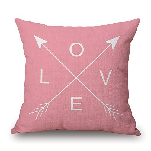 Bestseason Letter Cushion Cases 16 x 16 Inches Gift' Or Decor For Home, Kids, Girls, Teens, Father, Living Room, Wife