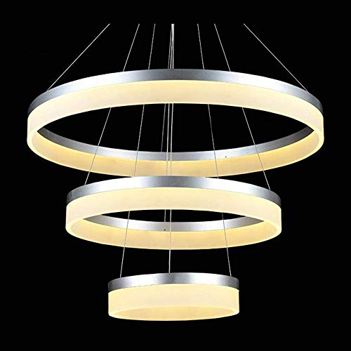 PLLP Bedroom Living Room Decoration Chandelier,Chandelier, Optional Size Modern Fashion, Minimalist As Led Ring Arts Candlestick Restaurant Lounge Chandelier Personality Lap (/Double/Three Towers) -