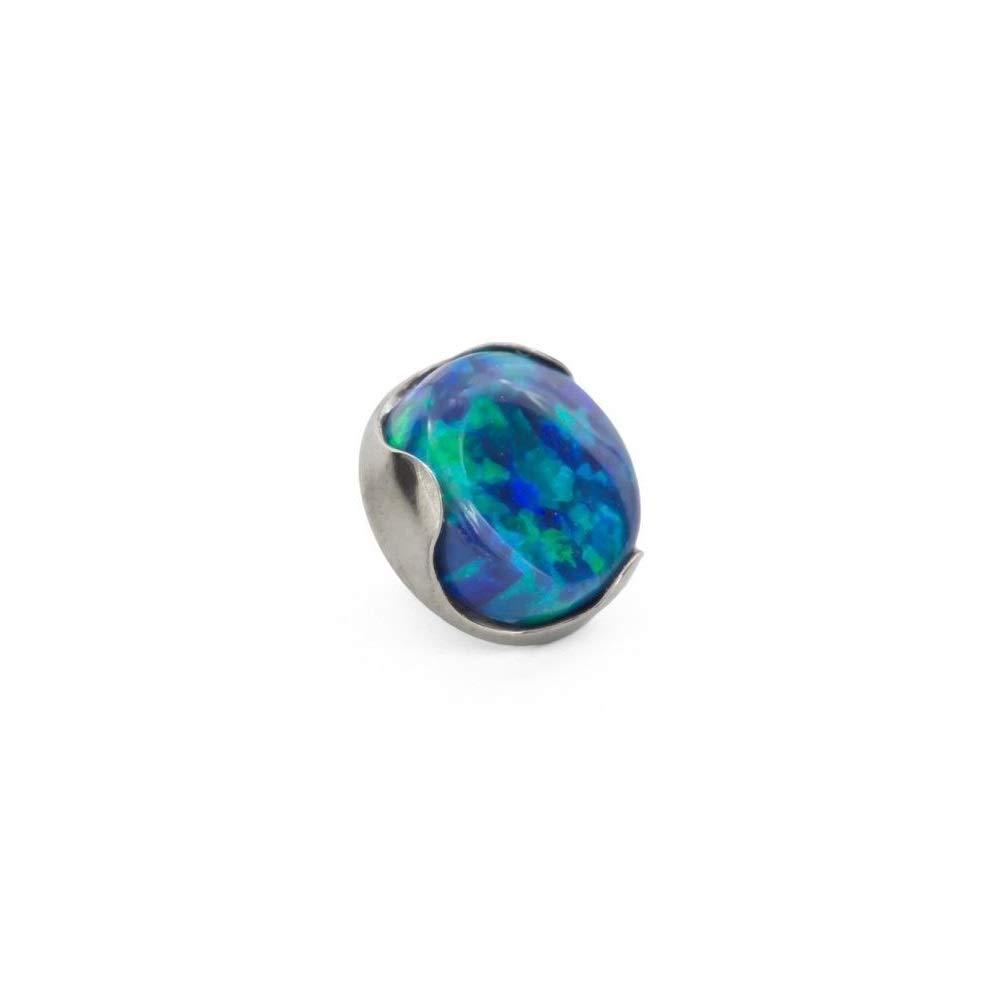 Price Per 1 16g Titanium 4mm Opal Prong-Set Flat Top Painful Pleasures 18g