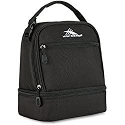 1 Of High Sierra Stacked Compartment Black