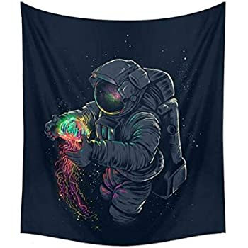 CAMMITEVER Astronaut Wall Hanging Tapestry Outer Space Wall Art Home Decorations for Living Room Bedroom Dorm Decor in 51x60 Inches (51 W by 60