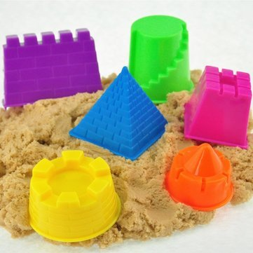 Seaside Castle - Molding Sand Castle - Beach Sand Castle Molds - 6Pcs a Mini Baby Children Kids Indoor Toy Beach Seaside Model Castle Clay Moving Magic Sand Gift (Sand Castle Toys Kid)