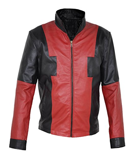 Marvel comic character deapool x-men Halloween costume faux leather jacket large V1. All sizes available